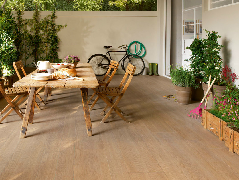 Outdoor wall/floor tiles with wood effect TREVERK OUTDOOR by MARAZZI