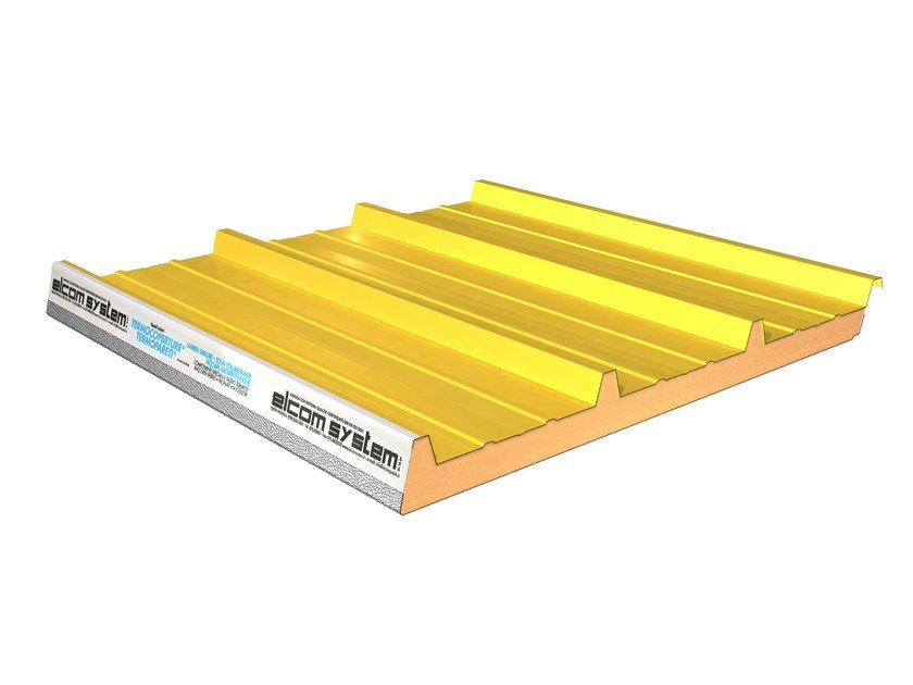 Insulated metal panel for roof TERMOCOPERTURE® RP/ST FLEX-AC/CB by ELCOM SYSTEM