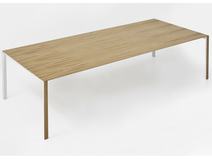 Rectangular wooden table THIN-K WOOD by Kristalia