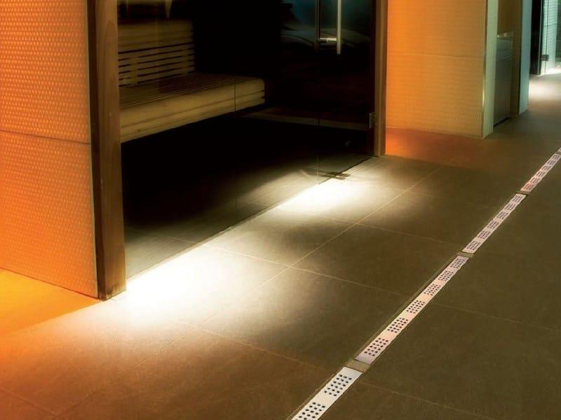 Stainless steel shower channel MINIFLOW I by OMP