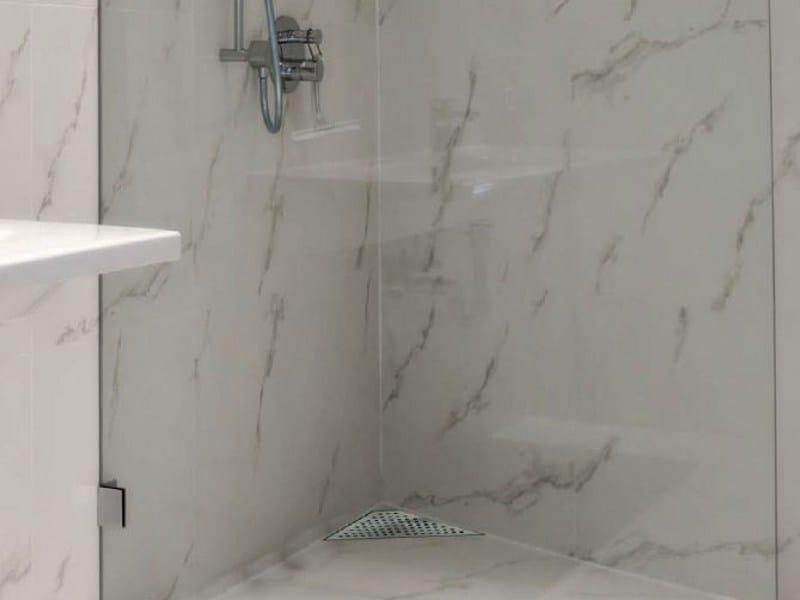 Stainless steel shower channel MINIFLOW T by OMP
