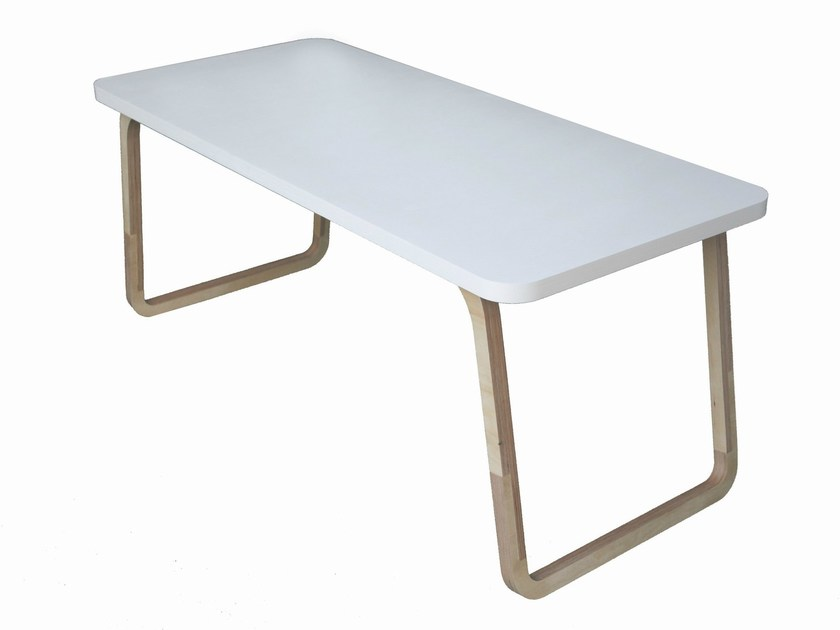 Rectangular multi-layer wood table TABLE PERCH by Specimen Editions