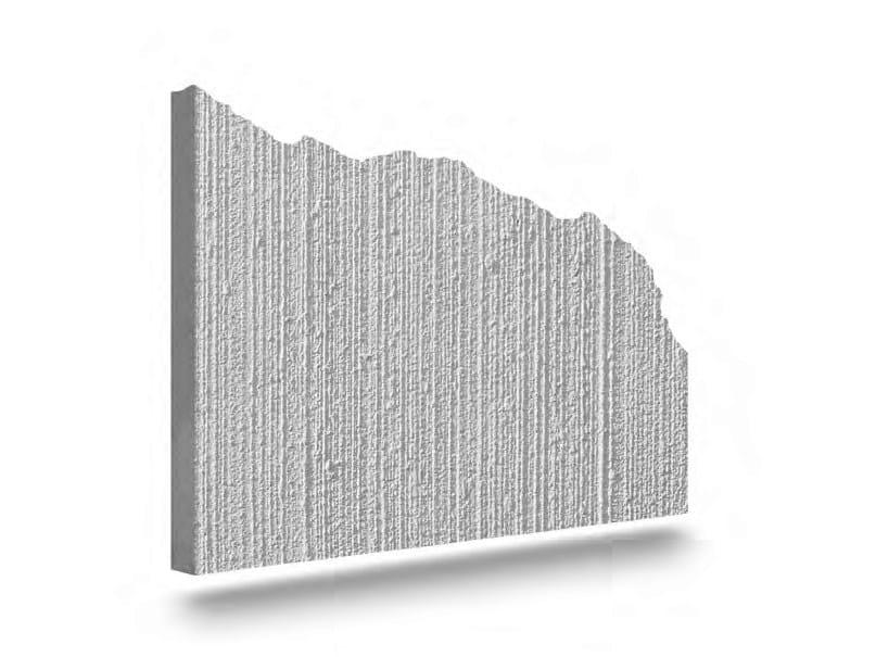 Matrix for fair faced concrete wall GRAFFIATO by PLASMACEM