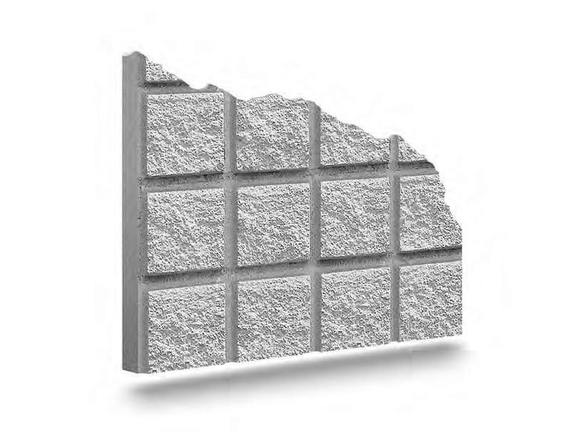 Matrix for fair faced concrete wall QUBIKSTONE by PLASMACEM