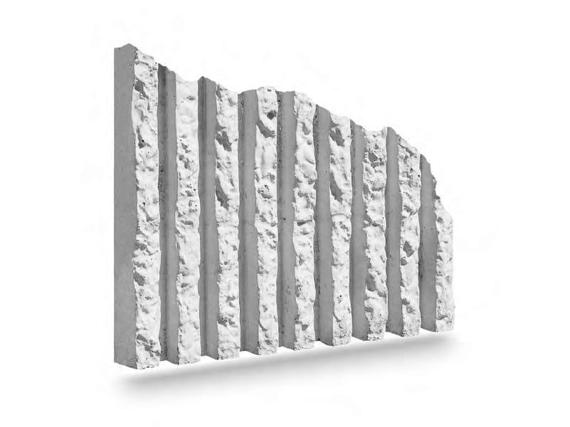 Matrix for fair faced concrete wall RIGATO by PLASMACEM