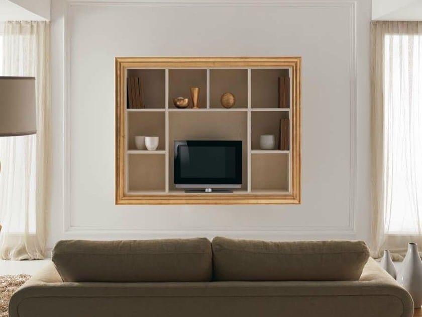 Wooden TV cabinet with shelves ZOE by CorteZari