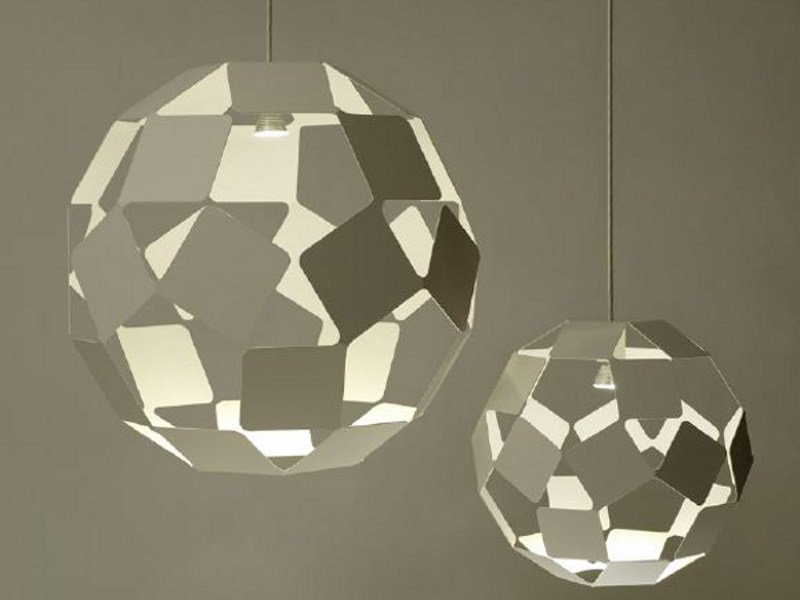 Steel pendant lamp DANCING SQUARE LAMP by Specimen Editions