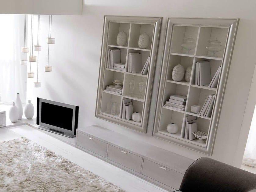 Open lacquered wooden bookcase ZOE by CorteZari