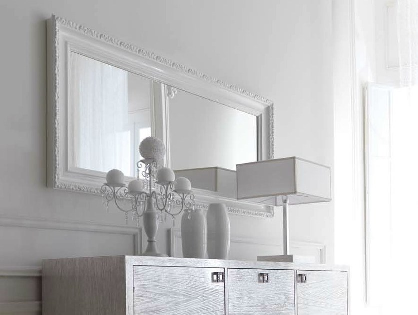 Wall-mounted framed mirror GRETA by CorteZari