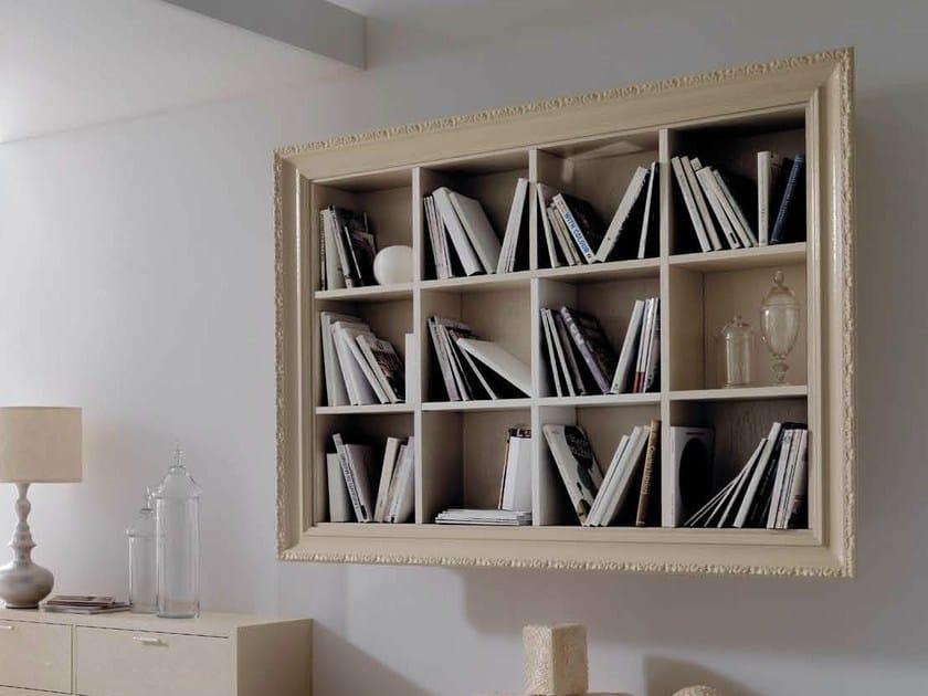 Open floating wooden bookcase GRETA by CorteZari