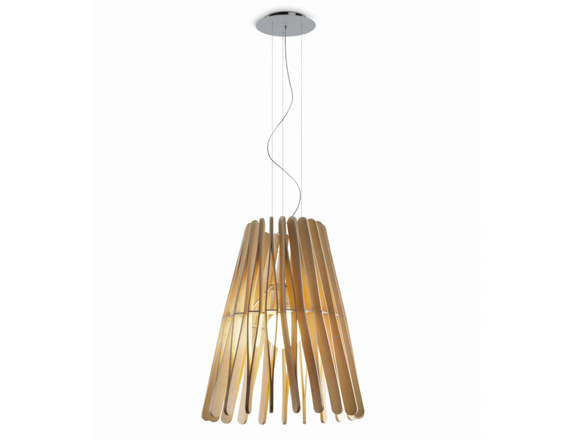 Wooden pendant lamp STICK | Pendant lamp by Fabbian