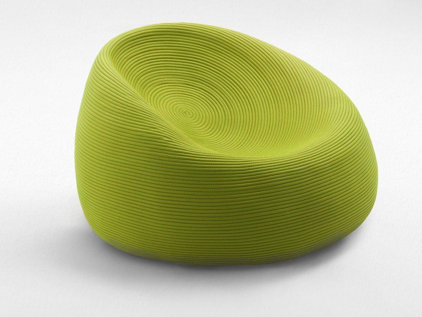 Rope garden armchair with removable cover OTTO | Garden armchair by paola lenti