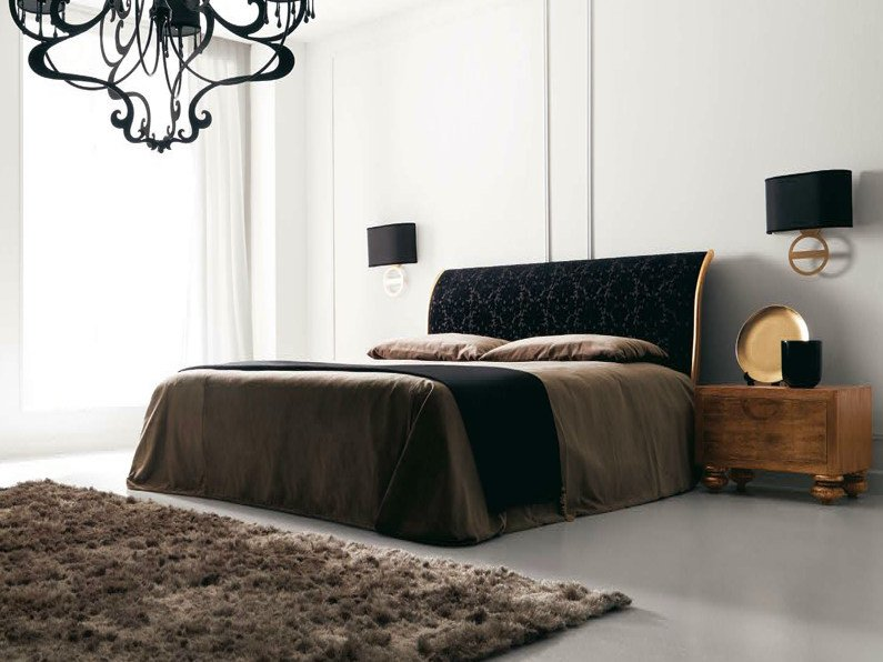 Double bed with upholstered headboard KEOPE by CorteZari