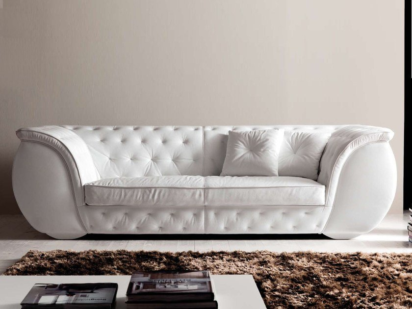 3 Seater Leather Sofa LAPO QUILT By CorteZari