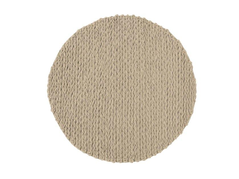 Solid-color round rug TRENZAS | Round rug by GAN