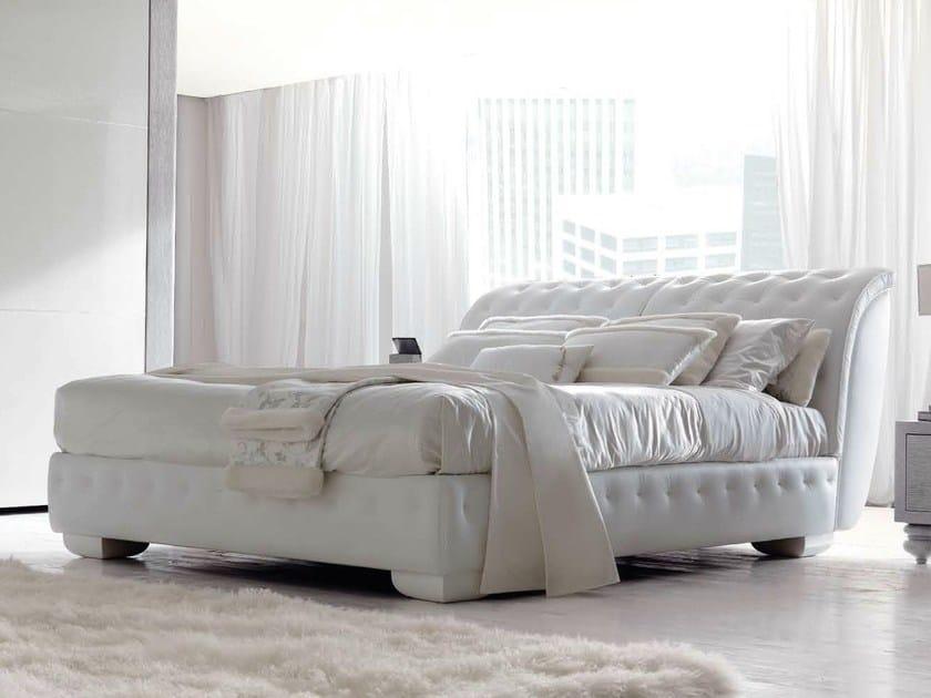 Leather double bed LAPO by CorteZari