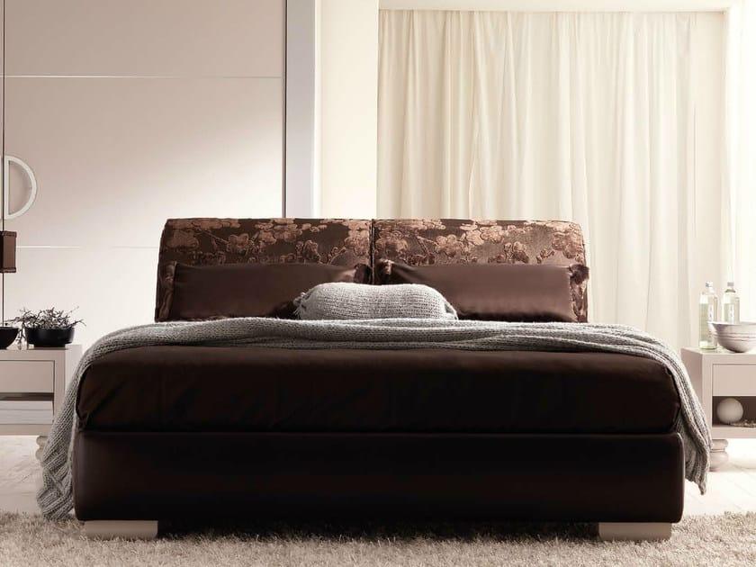 Leather double bed LAPO II by CorteZari