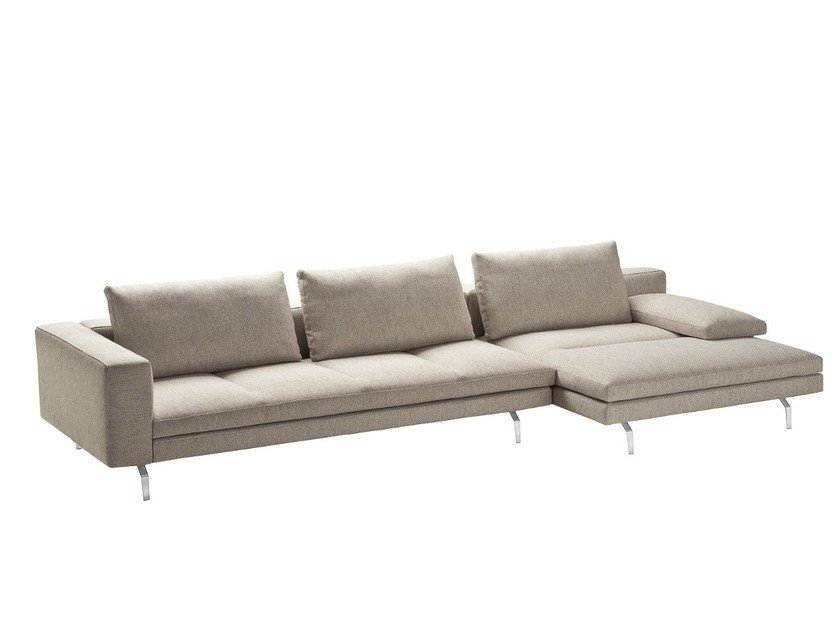 Sectional sofa with removable cover BRUCE | Sectional sofa by Zanotta