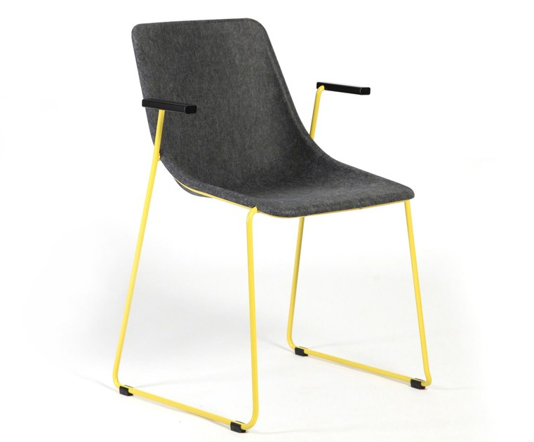 Sled base chair with armrests KOLA | Chair with armrests by Inno