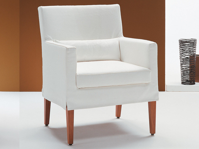 Upholstered armchair with armrests BETTY | Armchair with armrests by Bodema