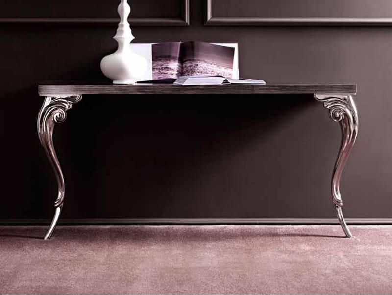 Rectangular oak console table ANTARES by CorteZari