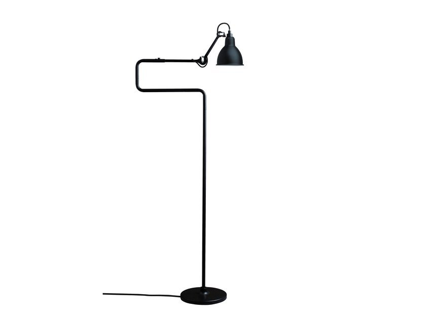 Adjustable floor lamp with swing arm N°411 | Floor lamp by DCW éditions