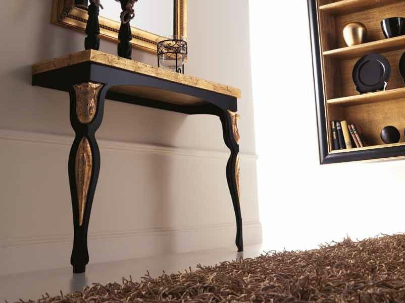 Rectangular oak console table ERIKA by CorteZari