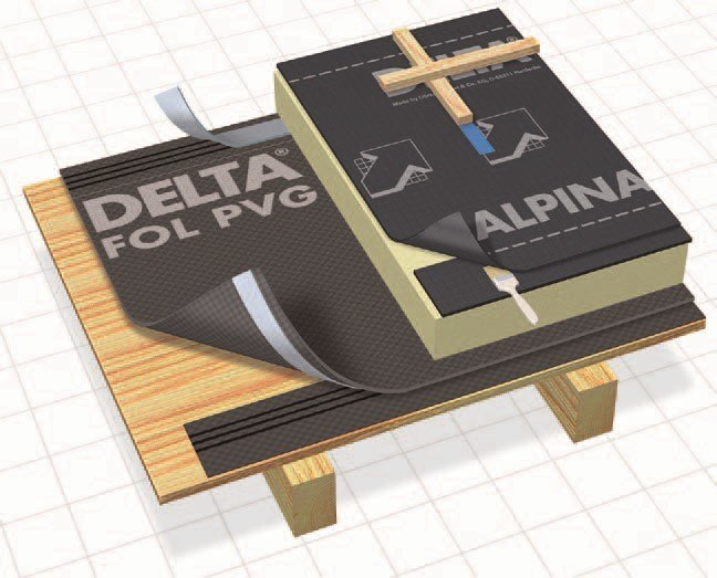 Breathable and protective sheeting DELTA®-ALPINA by DÖRKEN ITALIA