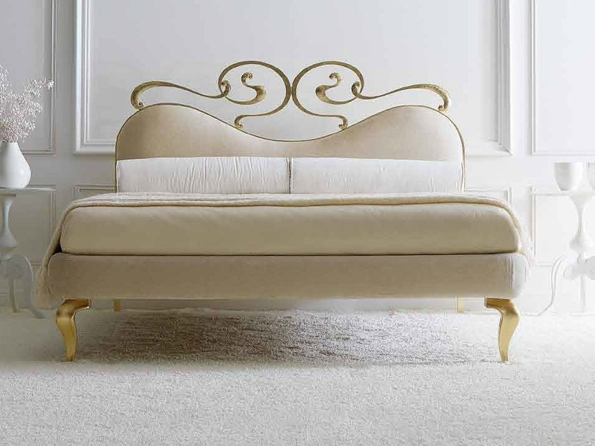 Double bed with upholstered headboard MAYA by CorteZari