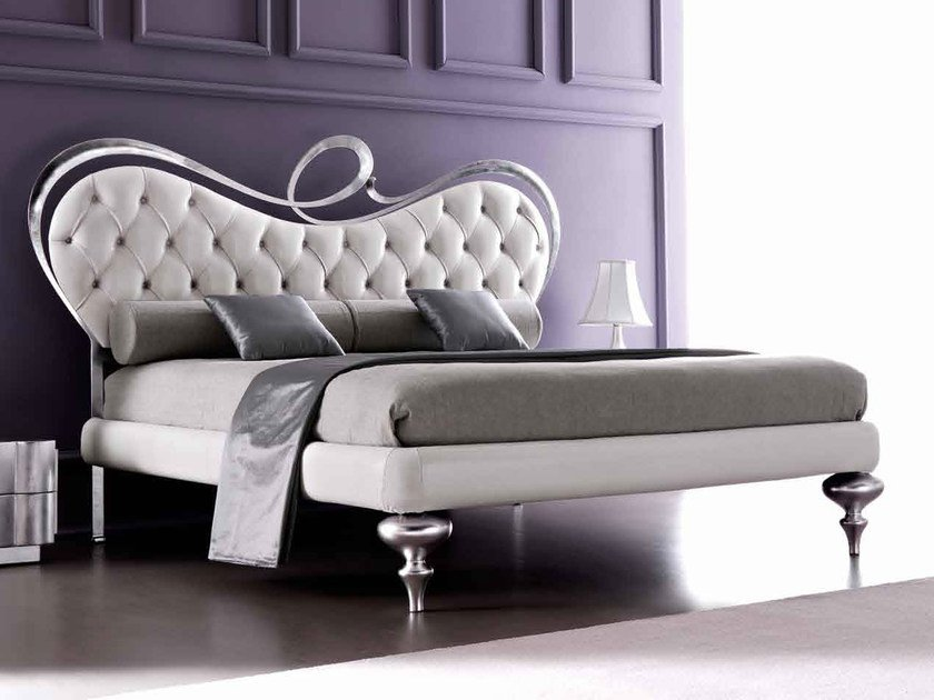 Double bed with upholstered headboard ROMEO by CorteZari