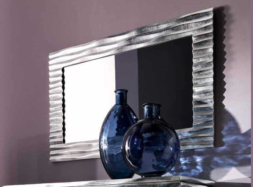 Wall-mounted framed rectangular mirror EBON by CorteZari