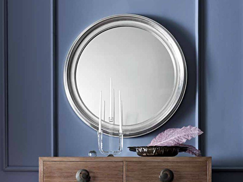 Wall-mounted framed round mirror LUISA by CorteZari