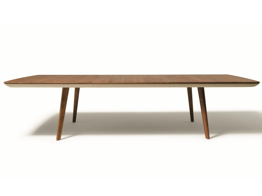Extending solid wood table FLAYE | Extending table by TEAM 7
