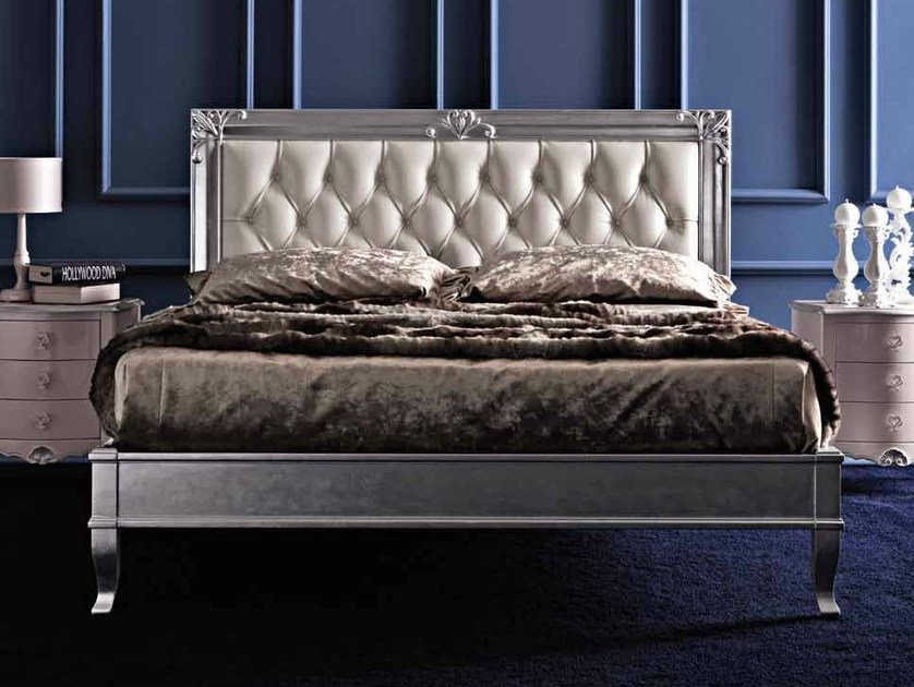 Double bed with upholstered headboard CLARA by CorteZari