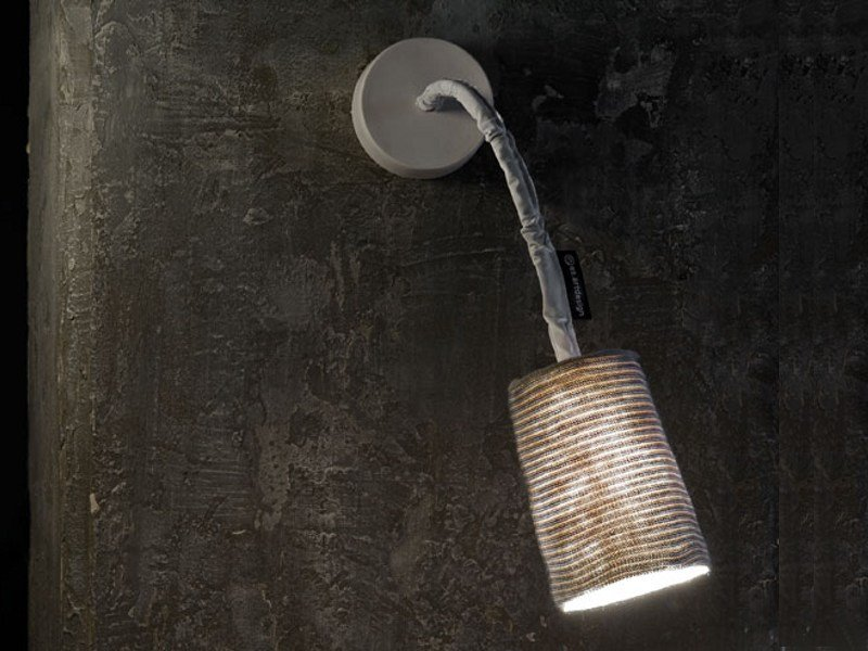 Adjustable wool wall light PAINT A STRIPE by In-es.artdesign