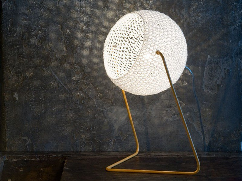 Wool table lamp TRAMA T1 by In-es.artdesign