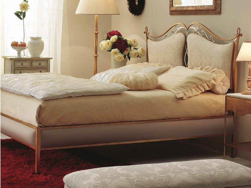 Double bed with upholstered headboard CAMELOT II by CorteZari