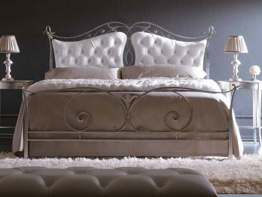 Double bed with upholstered headboard CAMELOT IV by CorteZari