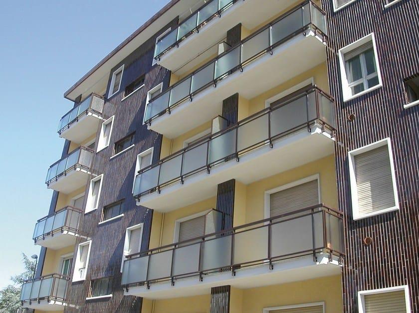 Window railing ECO GLASS by Siamesi
