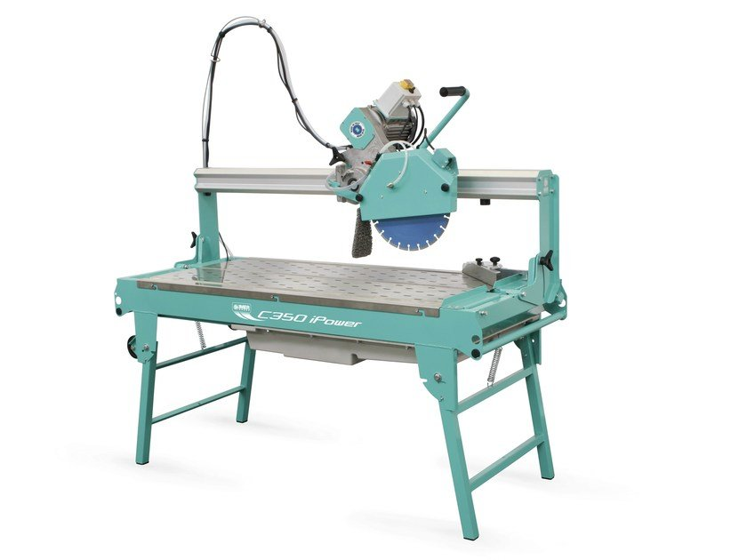 Water-cooled saw with sliding cutting head C350iPower by IMER INTERNATIONAL