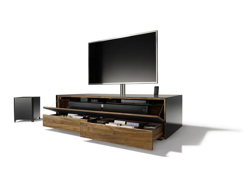 Mobile TV in legno e vetro CUBUS PURE   Mobile TV basso - TEAM 7