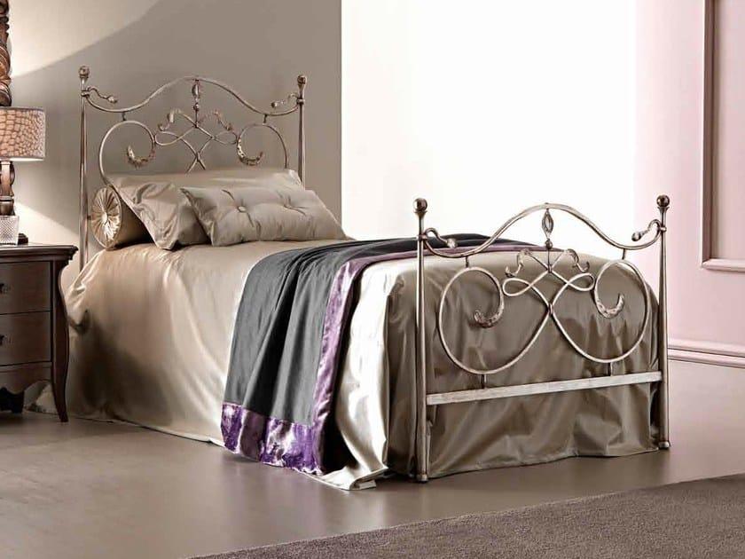 Silver leaf single bed ARTÙ by CorteZari