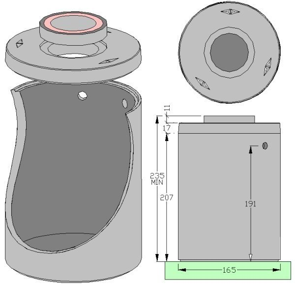 Basin, cistern and tank for water works Basin Lt 3.000 by ALDO LARCHER