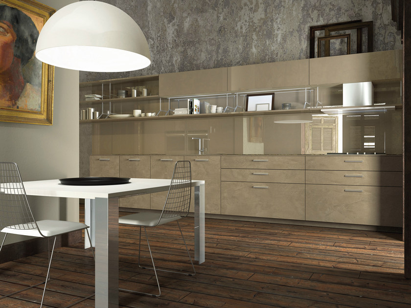 Lacquered MDF kitchen NOBLESSE | MDF kitchen by Aster Cucine S.p.A.