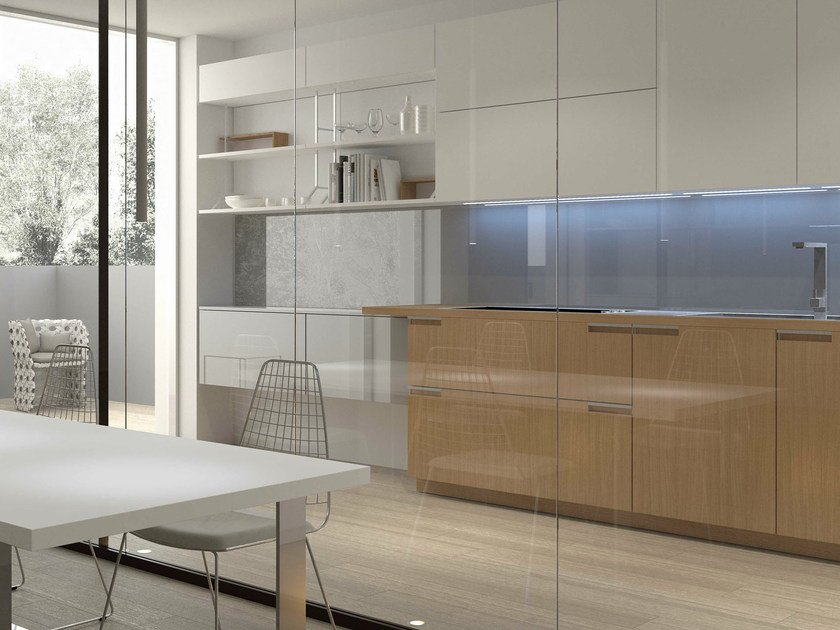 Lacquered oak kitchen NOBLESSE | Oak kitchen by Aster Cucine S.p.A.