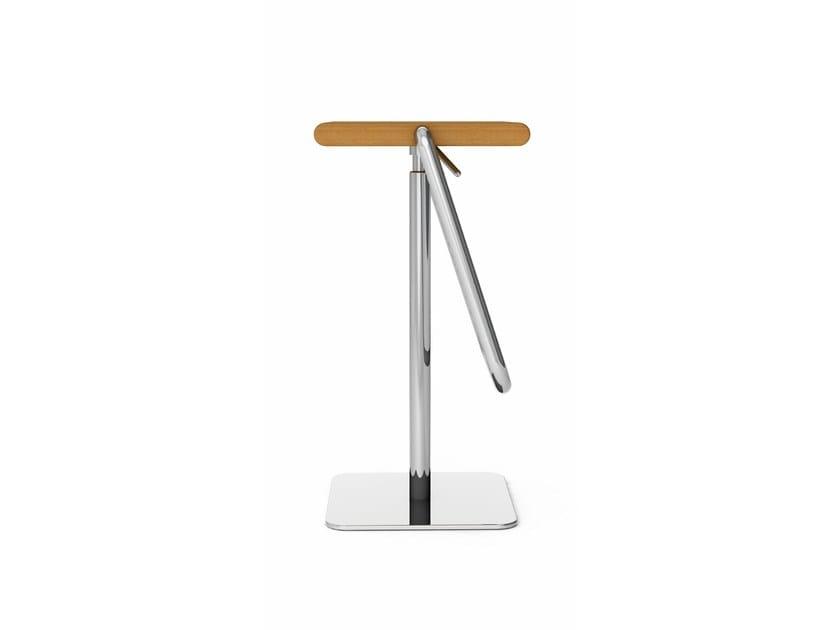 JOE Sgabello ad altezza regolabile in acciaio e legno