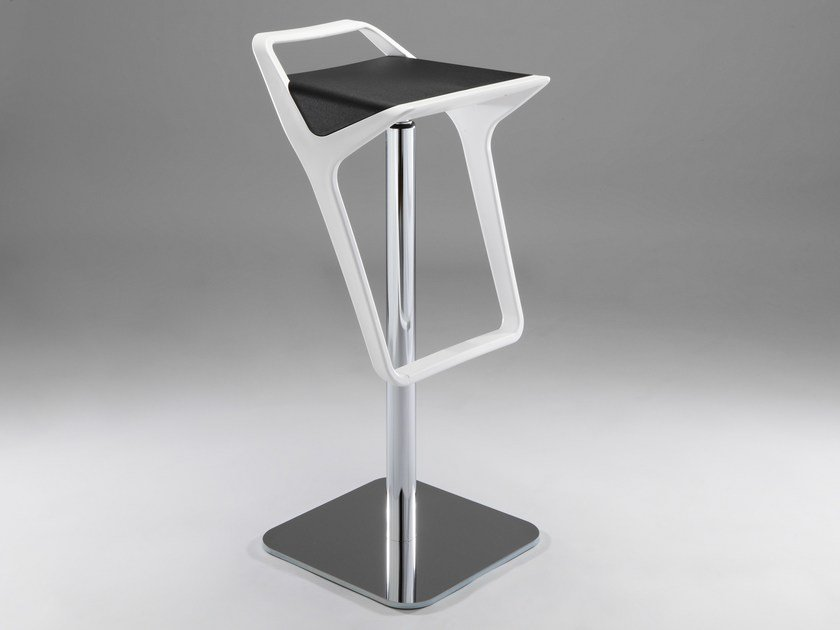 Height-adjustable swivel technopolymer stool FREEDOM AS by GABER