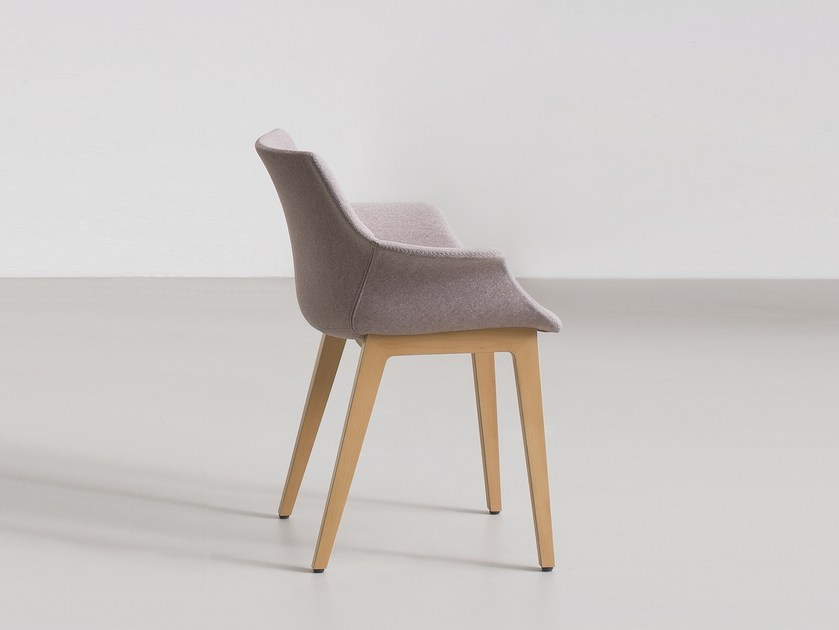 Upholstered chair with armrests MORE BL by GABER