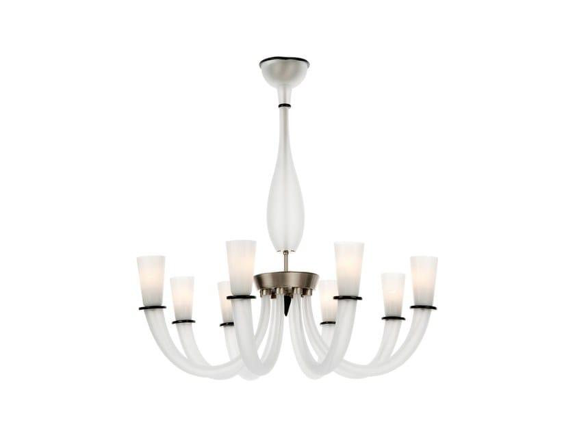 Murano glass chandelier GABBIANO | Chandelier by Veronese