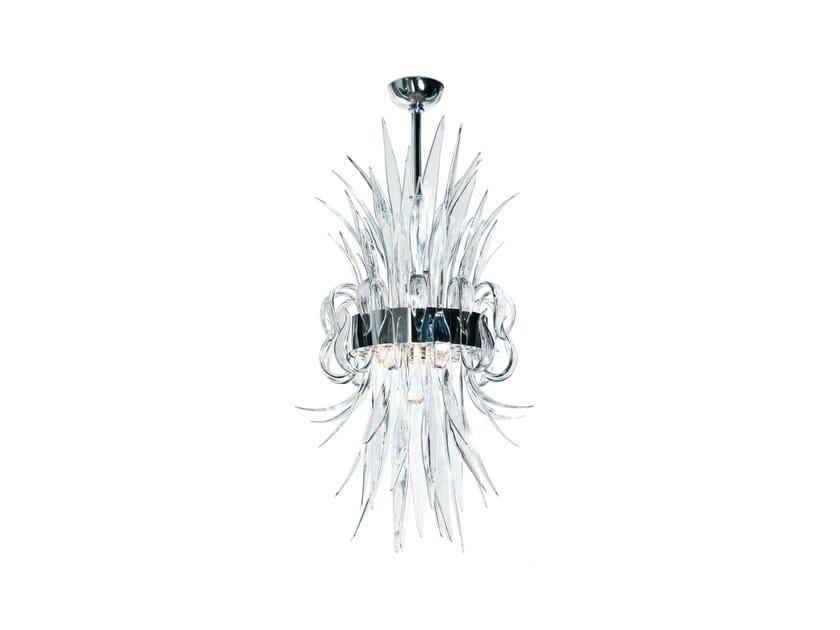 Murano glass pendant lamp NARCISSE by Veronese